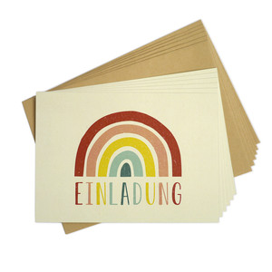 Einladungskarten-Set Regenbogen - TELL ME