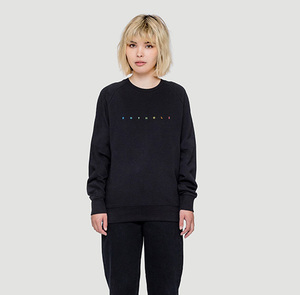Spacing Sweater Schwarz/Bunt - Rotholz