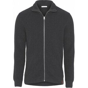 Strickjacke aus Bio-Wolle - Rib knit zip cardigan - GOTS - KnowledgeCotton Apparel