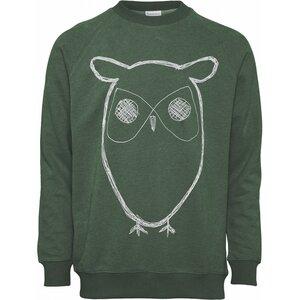 Sweatshirt - Sweat Shirt With Owl Print - GOTS/Vegan - KnowledgeCotton Apparel