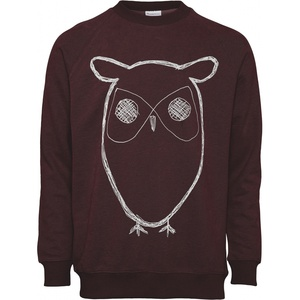 Sweatshirt - Sweat Shirt With Owl Print - GOTS/Vegan - KnowledgeCotton Apparel