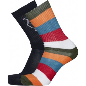 2er Pack Socken - 2er Pack Block striped - KnowledgeCotton Apparel