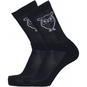 Socken - 2er Pack solid navy owl - KnowledgeCotton Apparel