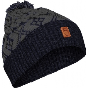 Mütze aus Bio-Wolle - Jacquard hat - GOTS - KnowledgeCotton Apparel