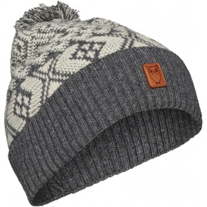 Mütze aus Bio-Wolle - Jacquard hat - GOTS - KnowledgeCotton Apparel