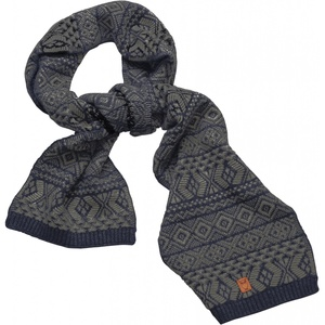 Schal aus Bio-Wolle - Jacquard scarf - GOTS - KnowledgeCotton Apparel