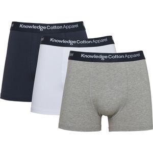 3er Pack Boxershorts - 3 pack solid colored underwear with navy elastic - GOTS/Vegan - KnowledgeCotton Apparel