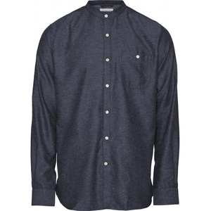 Hemd - Melange Effect Flannel Shirt stand collar - GOTS/Vegan - KnowledgeCotton Apparel
