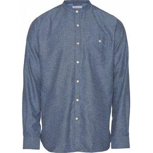 Flanellhemd - Melange Effect Flannel Shirt stand collar - GOTS/Vegan - KnowledgeCotton Apparel