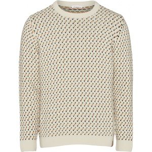 Strickpullover aus Bio-Wolle - Jacquard O-Neck Knit - GOTS - KnowledgeCotton Apparel