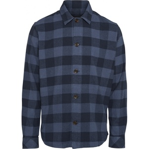 Flannel Overshirt - Brushed checked flannel shirt - GOTS/Vegan - KnowledgeCotton Apparel