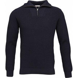Strickpullover - Rib knit w/zipper neck - GOTS - KnowledgeCotton Apparel
