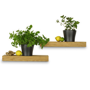 Balkenregal Eiche Massivholz Regal Wandregal Wandboard 50 cm Länge - GreenHaus