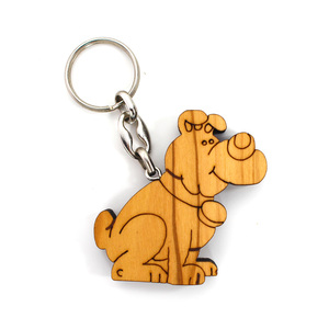 Schlüsselanhänger aus Holz - Hund - Mitienda Shop