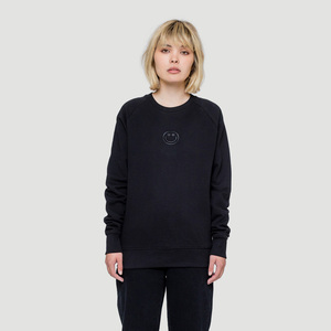 Smiley Sweatshirt Schwarz - Rotholz