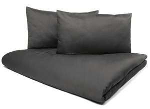 Bio-Bettwäsche VIVO Edel-Satin Set 3tlg - Schiefer - 200x220 cm  - NATUREHOME
