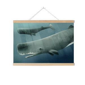 Set / Sperm Whale + Posterleiste Esche 70 cm - Kleinwaren / von Laufenberg