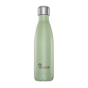Plastikfreie Edelstahlflasche 0,5 L. mit Deckel - Made Sustained
