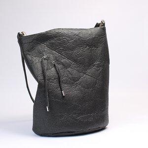 Große schwarze Tasche aus Piñatex®, vegan, Tote Bag, - Belaine Manufaktur