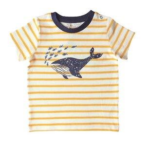 Jungen T-Shirt gelb geringelt Öko - sense-organics
