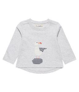 Mädchen Sweatshirt grau melange Öko - sense-organics