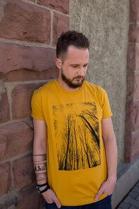 "Bio Faires Herren T-Shirt ""Forest #3"" _mustard - ilovemixtapes"