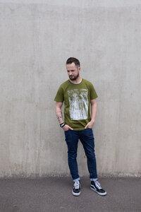 "Biofaires UNISEX Shirt ""Forest #3"" - khaki green - ilovemixtapes"