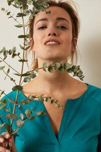 Halbarmshirt aus Bio-Baumwolle GOTS - LANIUS