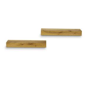 Balkenregal Eiche Massivholz Regal Wandregal Wandboard 50 cm Länge - GreenHaus