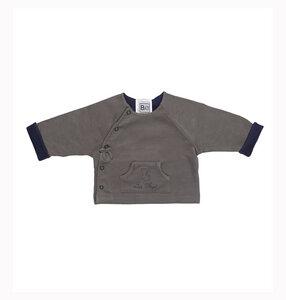 Reversible Jacke mit Engel Stickerei - Biologische Pima Baumwolle - B.e Quality
