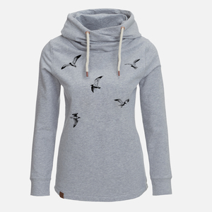 Hooded Sweat Lucky Animal Flying Birds - GreenBomb