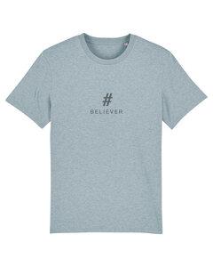 """Herren T-shirt aus Bio-Baumwolle """"BELIEVER"""" - Anthracite - University of Soul"""