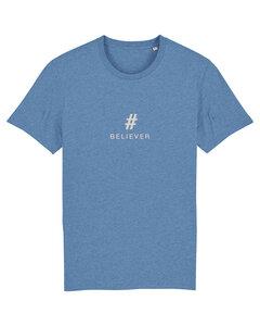 "Herren T-shirt aus Bio-Baumwolle ""BELIEVER"" - CreamWarmGrey - University of Soul"