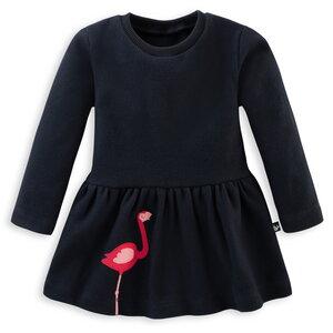 Sweat Kleid mit Flamingo für Mädchen - internaht