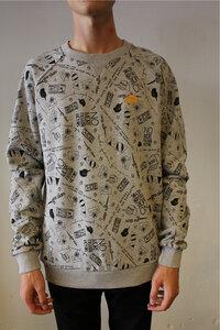 Sweatshirt - Ask Fair Graffiti - Grau - AMOV Apparel