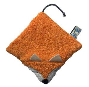 """Wärmekissen """"Fuchs"""",100 % Baumwolle Frottee und Rückseite aus Popelin Punkte/Dots aus kontrolliert biologischem Anbau - PAT & PATTY"""