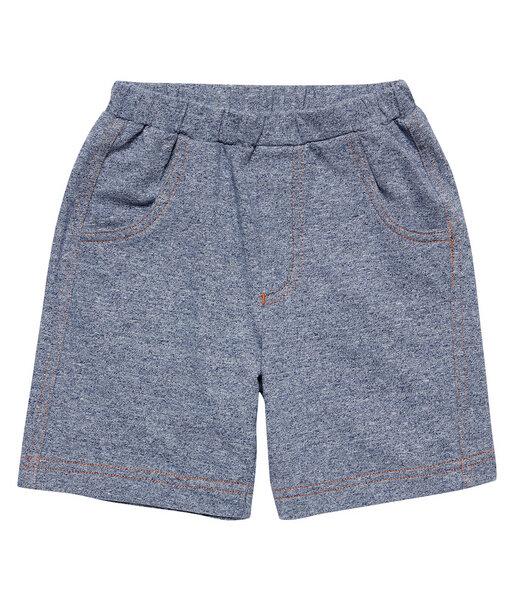 Jungen Sweat Shorts Blau Melange Bio Baumwolle