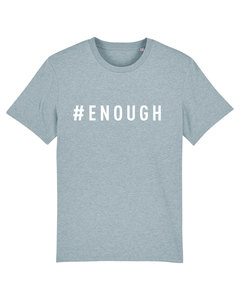 """Herren T-shirt aus Bio-Baumwolle """"ENOUGH"""" - White - University of Soul"""