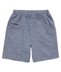Jungen Sweat Shorts blau melange Bio Baumwolle - sense-organics