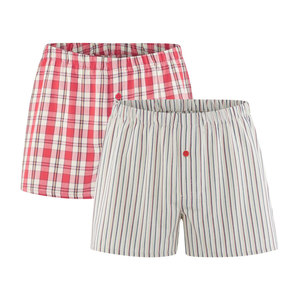 Herren Web Boxer Shorts Doppelpack - Living Crafts