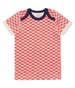 Baby T-Shirt roter Print Biologisch Sense Organics - sense-organics