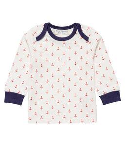 Baby LA Shirt weiß Anker Bio Baumwolle - sense-organics