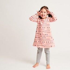 """Kleid """"Sweat familie eule PINK/Grau"""" 95% Bio-Baumwolle, 5% Elasthan - Cheeky Apple"""