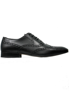 City Wingtip Brogue Oxfords Square Toe Schwarz Herren - Will's Vegan Shop