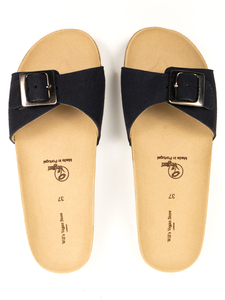 Single Strap Footbed Sandals Veganes Wildleder Damen - Will's Vegan Shop