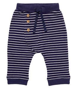 Baby Sweat Hose blau geringelt Bio Baumwolle - sense-organics