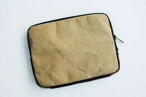 Kraft Papier Laptop Case 15 - 16 Zoll, MacBook Pro Hülle, Tasche, Lederoptik - BY COPALA