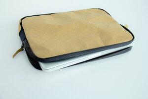 Kraft Papier Laptop Case 15 Zoll, MacBook Pro Hülle, Tasche,Lederoptik - BY COPALA