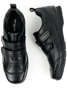 Kids Velcro Strap Shoes Schwarz Unisex - Will's Vegan Shop