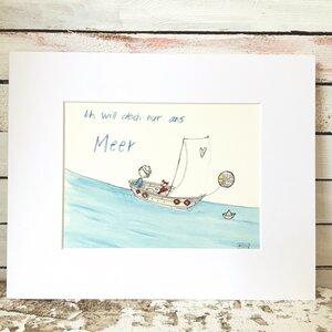 Print Ich will doch nur ans Meer - Atelier Blechbüchse